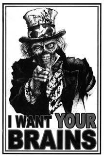 Zombie Uncle Sam brains