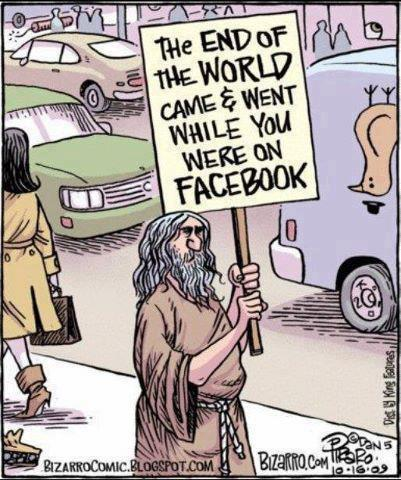 Bizarro end of world facebook
