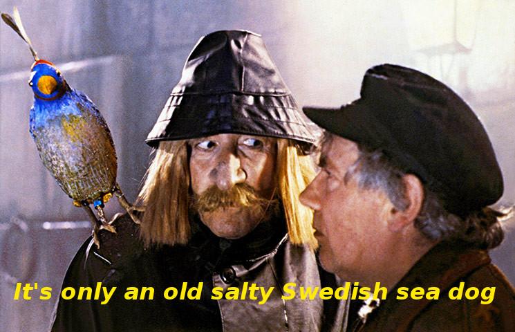 Clouseau salty sea dog parrot 2 w text