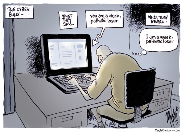 Cyber bully cartoon