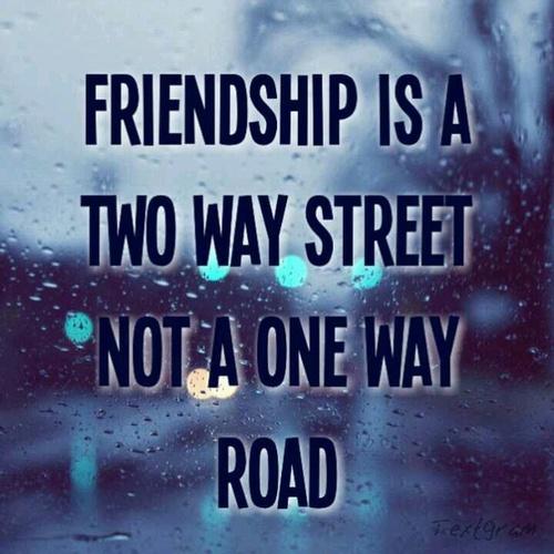 Friendship twoway street