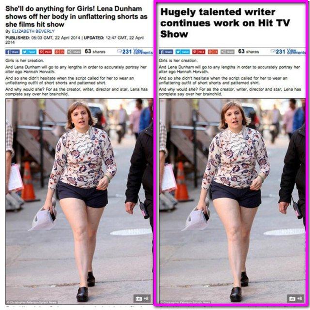 Headline Lena Dunham