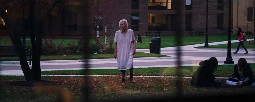 It follows old lady