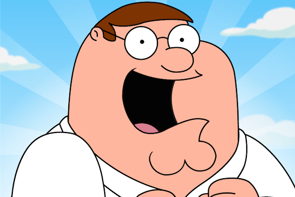 Peter Griffin excited face