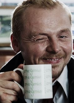 Simon Pegg Winking