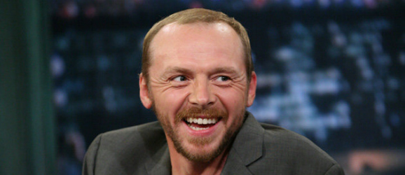 Simon Pegg laughing
