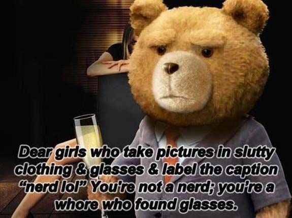 Ted whore w glasses